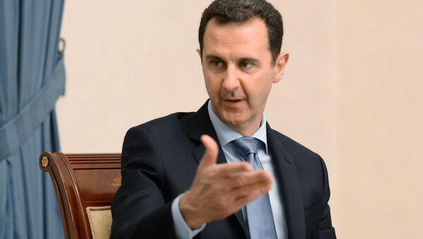 Spotkanie prezydenta Syrii Baszara al-Asada z delegacją rosyjskich parlamentarzystów - Sputnik Polska