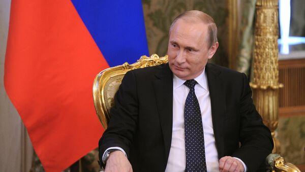 Prezydent Rosji Władimir Putin podczas spotkania na Kremlu z premierem Izraela Binjamina Netanjahu - Sputnik Polska