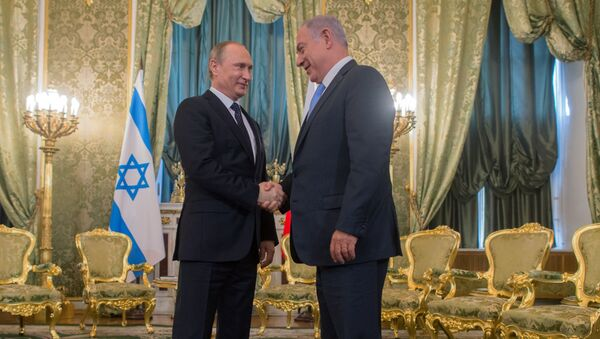 Prezydent Rosji Władimir Putin i premier Izraela Binjamin Netahjahu podczas spotkania na Kremlu - Sputnik Polska