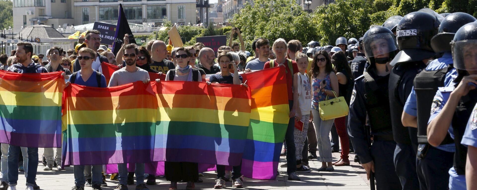 Parada Równości w Kijowie. - Sputnik Polska, 1920, 19.07.2021