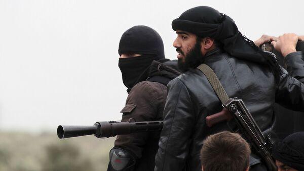 Członkowie islamskiej organizacji terrorystycznej Dżabhat an-Nusra - Sputnik Polska
