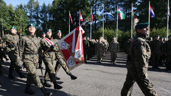 Ćwiczenia wojskowe Anakonda 2016 w Polsce, warta honorowa - Sputnik Polska