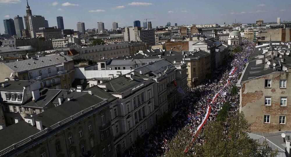 Antyrządowa demonstracja w Warszawie.