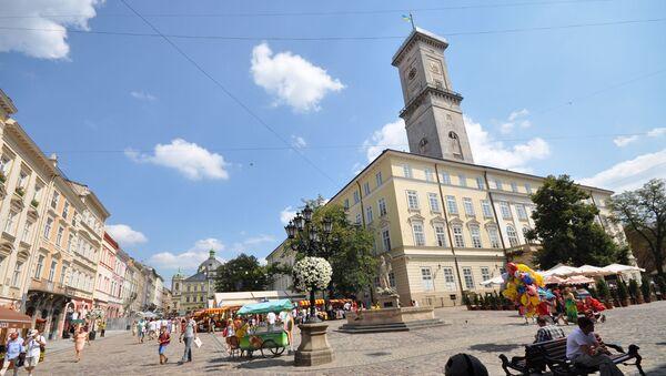 Budynek lwowskiego merostwa - Sputnik Polska