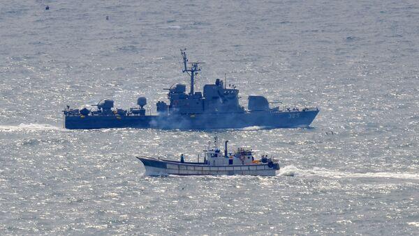 Okręt południowokoreańskiej marynarki wojennej an Morzu Żółtym - Sputnik Polska
