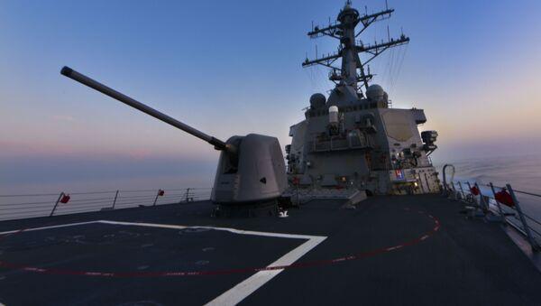 """Niszczyciel amerykańskiej marynarki wojennej """"Porter"""" (USS Porter DDG 78) - Sputnik Polska"""