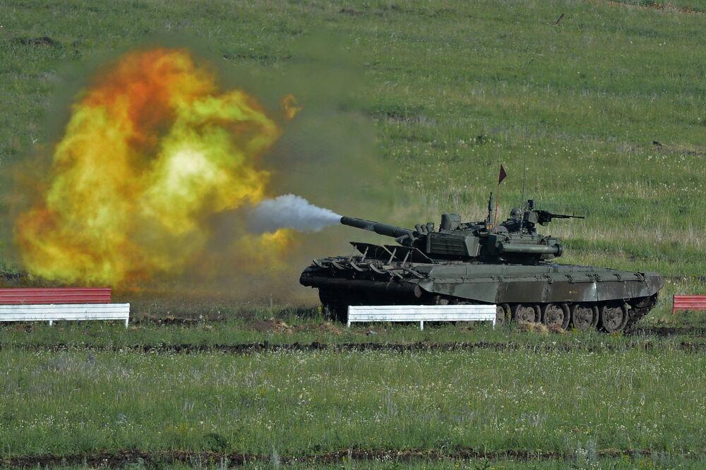Wojskowy etap biathlonu czołgów odbył się w obwodzie czelabińskim po raz pierwszy.