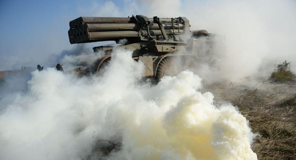 Wieloprowadnicowa wyrzutnia rakietowa Huragan.