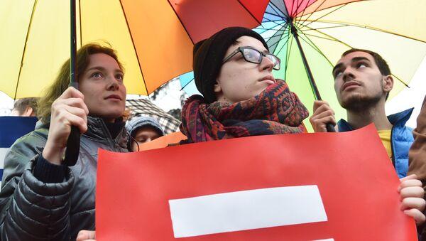 Działacze LGBT na Ukrainie - Sputnik Polska