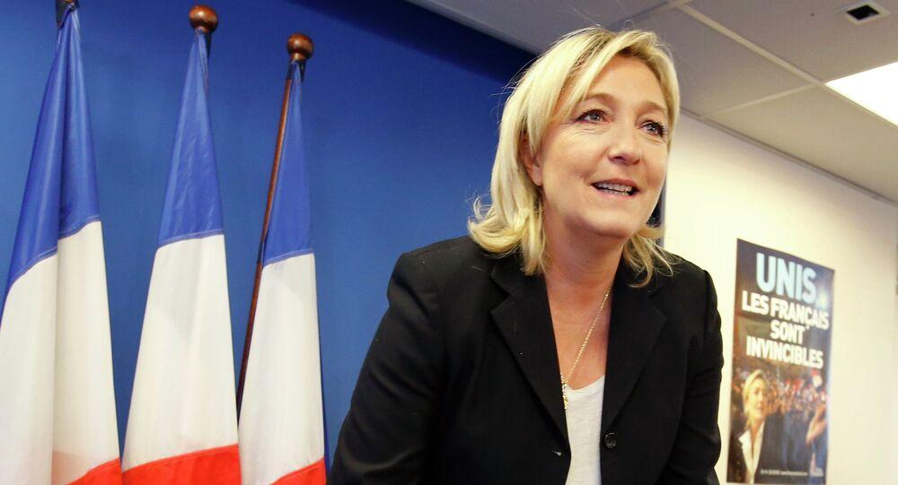 """Lider francuskiej skrajnie prawicowej partii """"Front Narodowy"""" Marine Le Pen"""