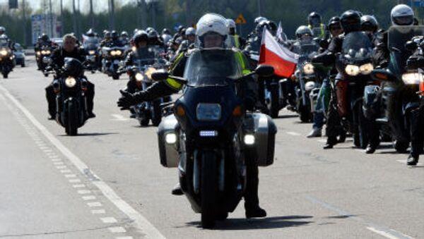 Polscy motocykliści protestują przeciwko odmowie wjazdu na terytorium kraju dla członków klubu Nocne Wilki. - Sputnik Polska