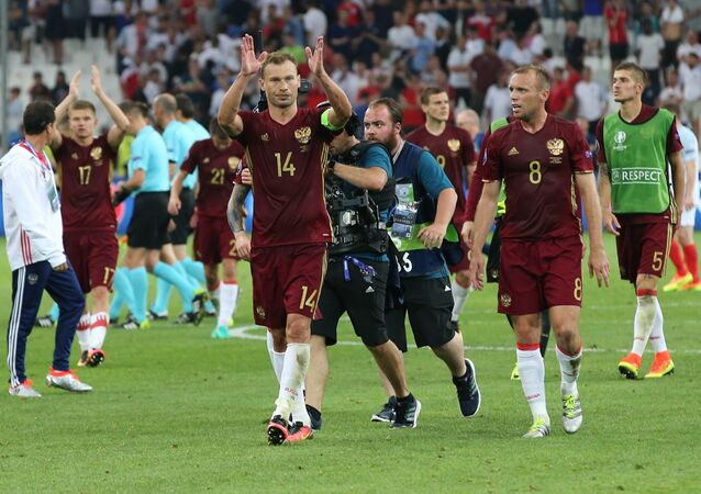 Mecz Rosja-Anglia podczas Mistrzostw Europy