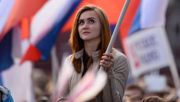 Dziewczyna podczas koncertu na placu Czerwonym - Sputnik Polska