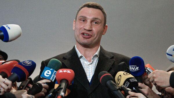 Lider partii Solidarność, mer Kijowa Witalij Kliczko - Sputnik Polska