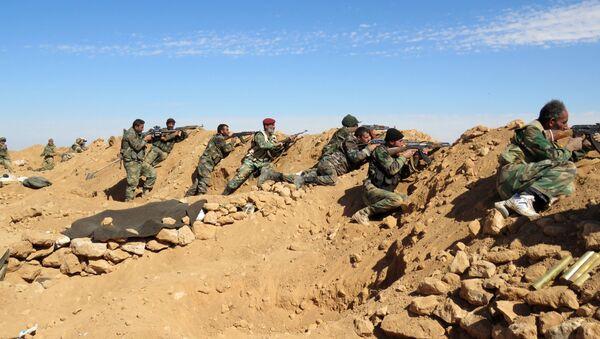 Żołnierze armii syryjskiej w prowincji Rakka - Sputnik Polska