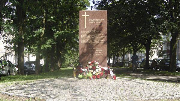 Pomnik na cześć Polaków zabitych na Wołyniu, Gdańsk - Sputnik Polska