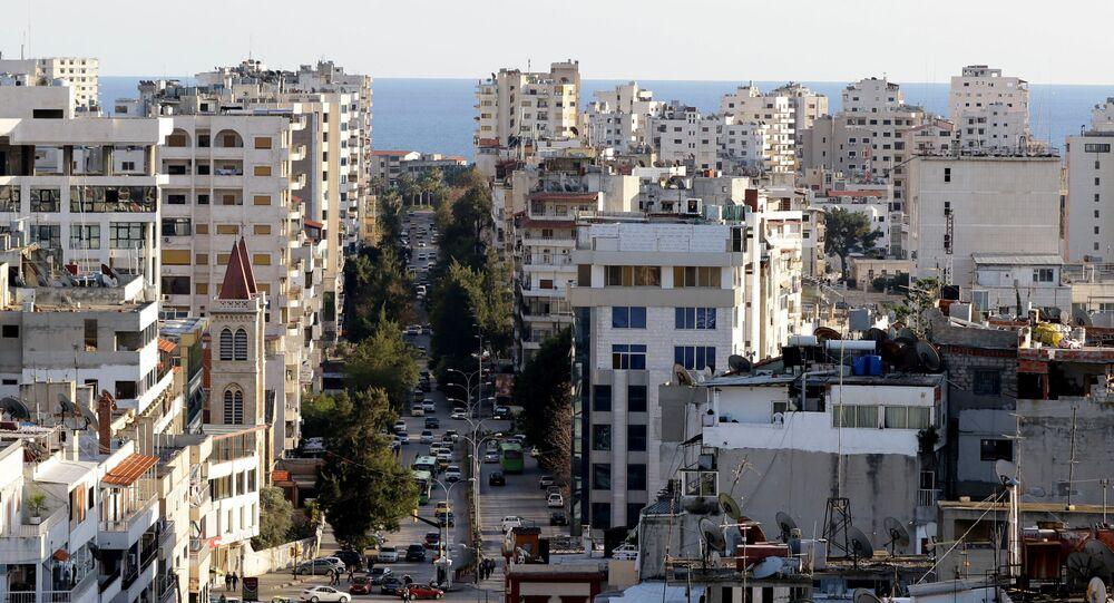 Widok na syryjskie miasto Latakia