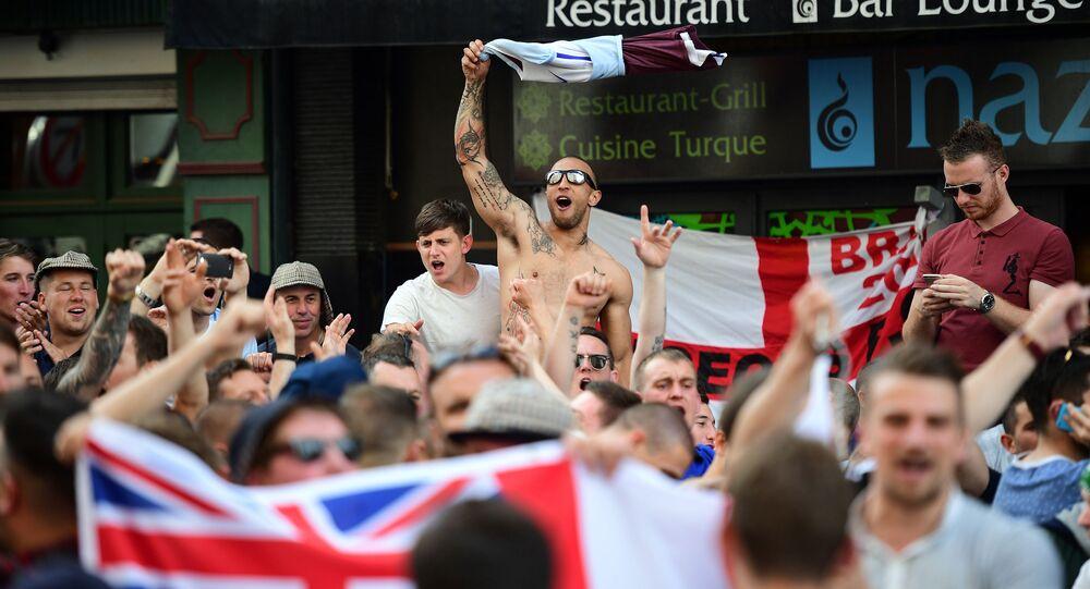 Brytyjscy kibole na Euro 2016 w Lille