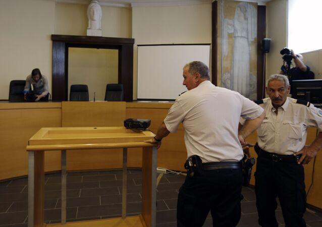 Francuska policja w sądzie miasta Marsylia