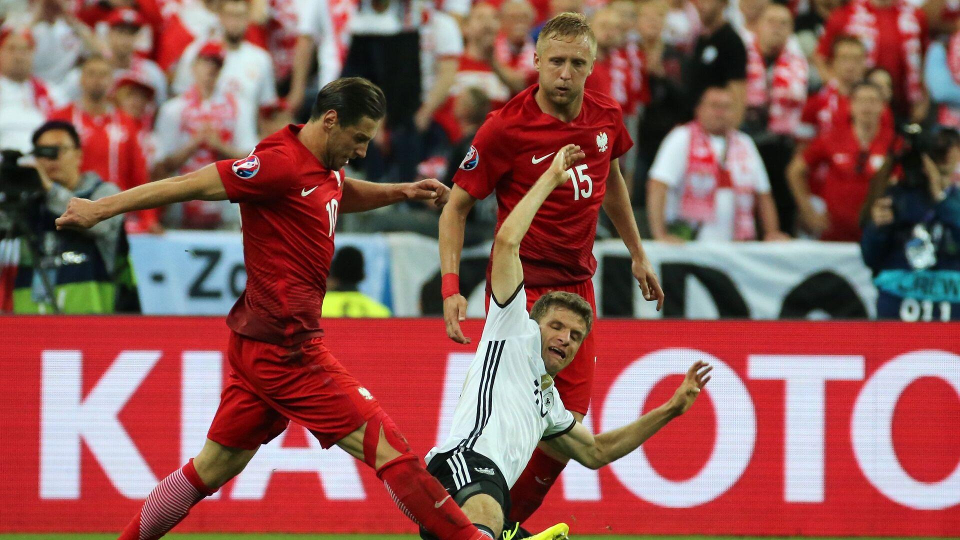 Piłka nożna. Euro 2016. Mecz Polska-Niemcy. - Sputnik Polska, 1920, 18.06.2021