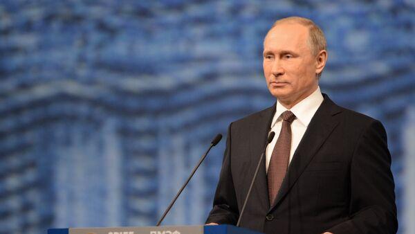 Wizyta robocza prezydenta Rosji Władimira Putina do Sankt-Petersburga 17 lipca 2016. - Sputnik Polska