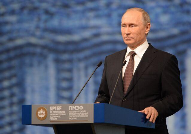 Wizyta robocza prezydenta Rosji Władimira Putina do Sankt-Petersburga 17 lipca 2016.