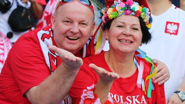 Polscy kibice przed meczem Polska - Irlandia Północna podczas Euro-2016 - Sputnik Polska
