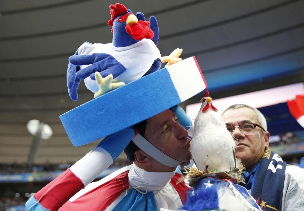 Francuscy kibice przed meczem Francja - Rumunia podczas Euro-2016