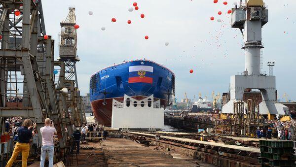 Zwodowanie lodołamacza Arktyka - Sputnik Polska