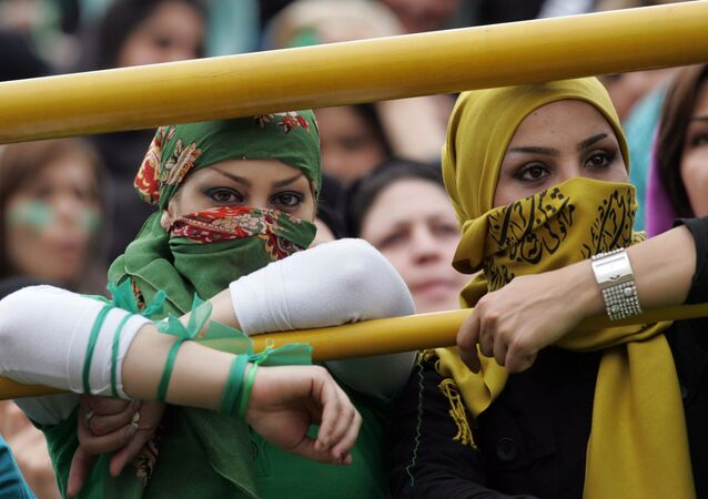 Irańskie kobiety na mitingu
