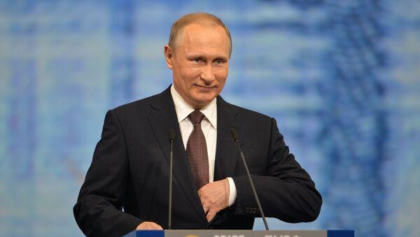 Prezydent Rosji Władimir Putin na 20. Międzynarodowym Forum Ekonomicznym w Petersburgu - Sputnik Polska