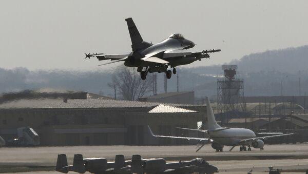 Amerykańska baza lotnicza Osan w Korei Południowej - Sputnik Polska