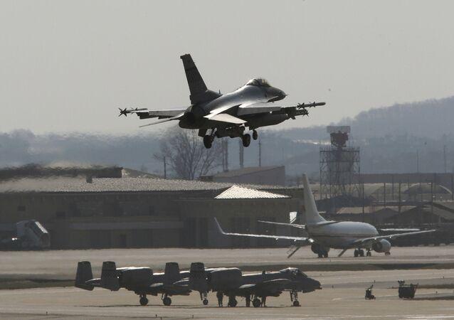Amerykańska baza lotnicza Osan w Korei Południowej