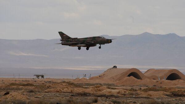 Myśliwiec MiG-21 syryjskich sił powietrznych - Sputnik Polska