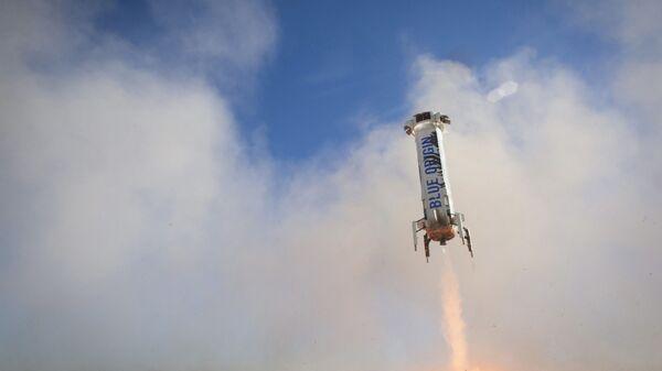 Lądowanie rakiety New Shepard w Zachodnim Teksasie - Sputnik Polska