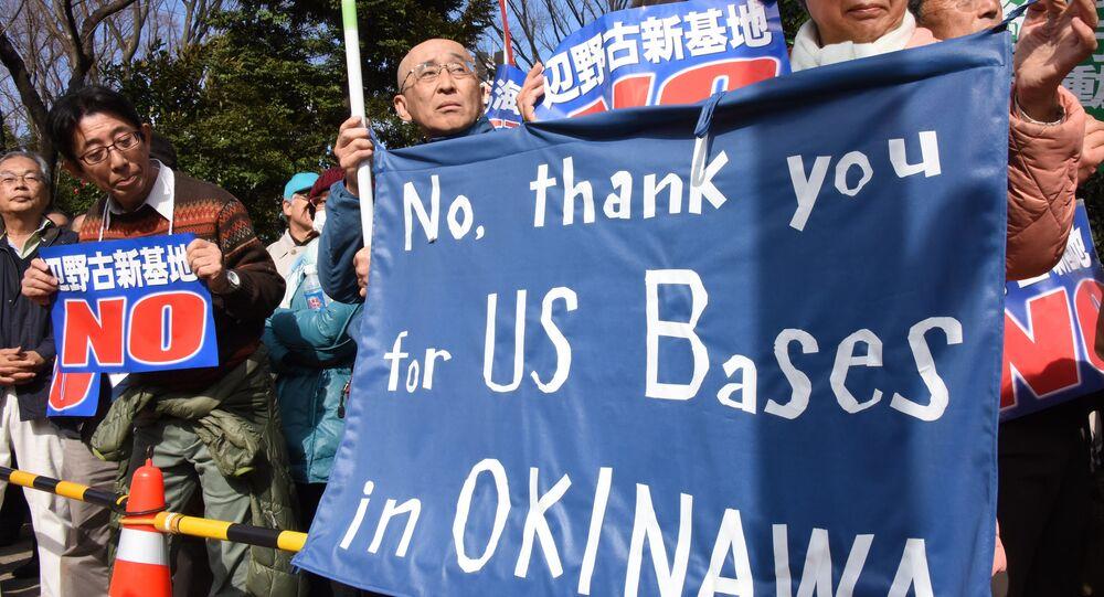 Protesty przeciwko bazom amerykańskim na Okinawie