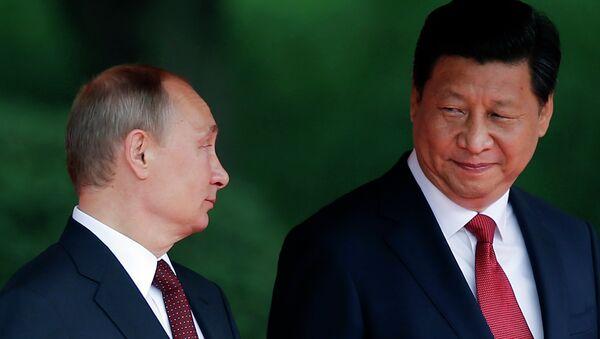 Prezydent Chin Xi Jinping i prezydent Rosji Władimir Putin - Sputnik Polska
