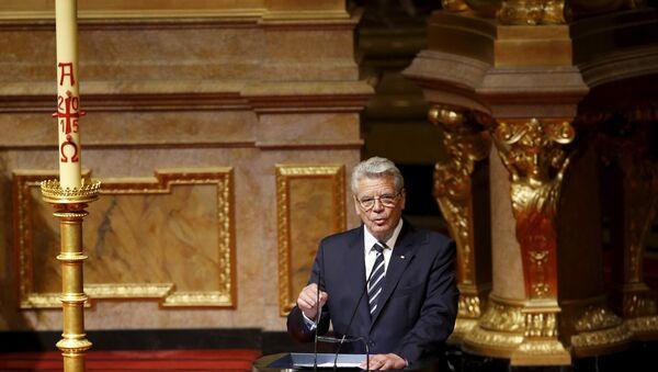 Prezydent Niemiec Joachim Gauck - Sputnik Polska
