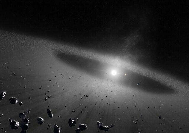 Pas asteroid wokół Układu Słonecznego