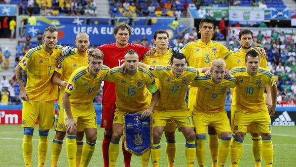 Reprezentacja Ukrainy przed meczem Ukraina-Północna Irlandia na Euro-2016 - Sputnik Polska
