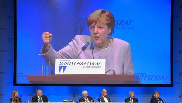 Przemówienie kanclerz Niemiec Angela Merkel podczas posiedzenia Rady Gospodarczej Niemiec w Berlinie - Sputnik Polska