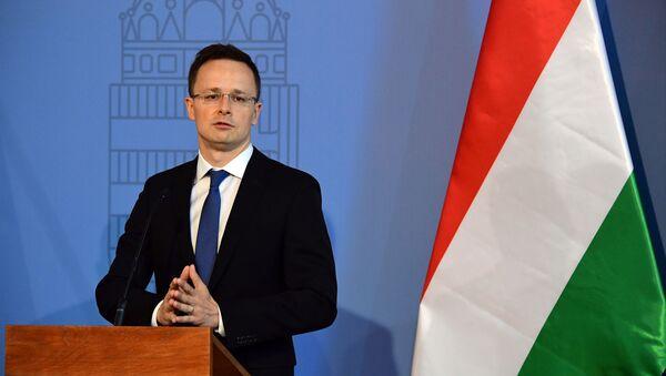 Szef MSZ Węgier Peter Szijjarto - Sputnik Polska