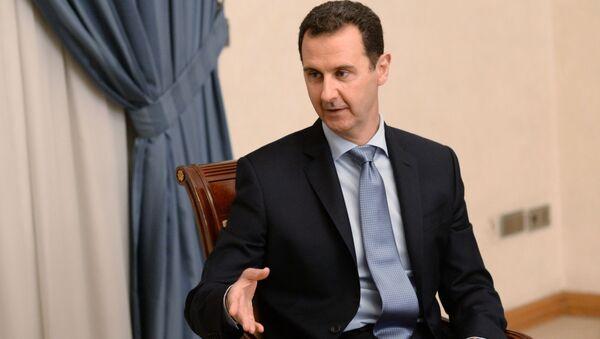 Prezydent Syrii Baszar al-Asad w Damaszku - Sputnik Polska