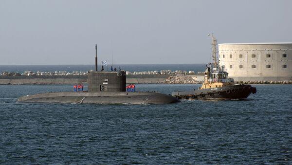 Przybycie okrętu podwodnego Floty Czarnomorskiej do portu w Sewastopolu - Sputnik Polska