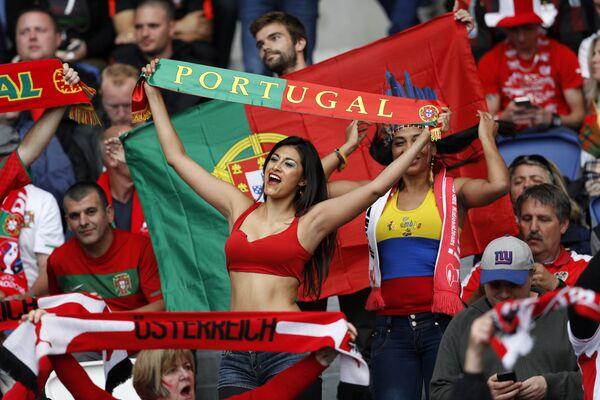 Kibicka reprezentacji Portugalii na Euro 2016 - Sputnik Polska