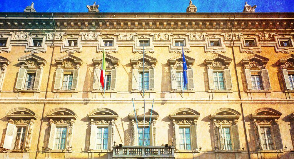 Budynek włoskiego senatu. Rzym,