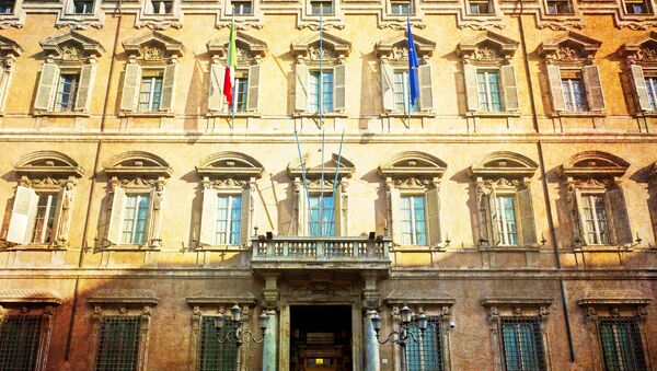 Budynek włoskiego senatu. Rzym, - Sputnik Polska
