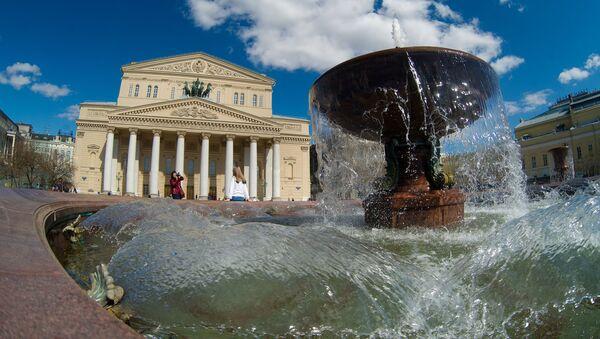 Fontanna na Placu Teatralnym w Moskwie - Sputnik Polska