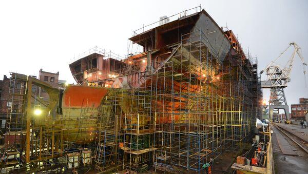 Budowa atomowego lodołamacza Arktyka w Stoczni Bałtyckiej w Petersburgu - Sputnik Polska