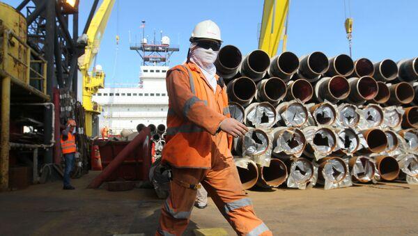 Budowa gazociągu Dżubga-Łazariewskoje-Soczi w akwenie Morza Czarnego - Sputnik Polska